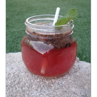 Brown Sugar Blueberry Mojito
