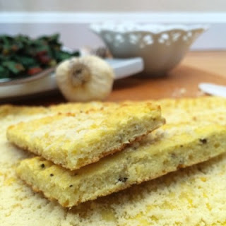 Garlic Parmesan Low Carb Flatbread.