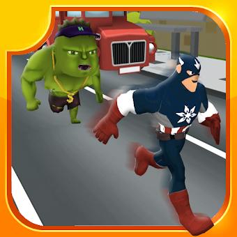 Subway Surf Game : Superhero Kids Subway Rush