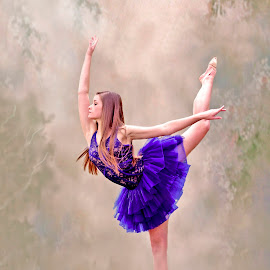 Dancer in Blue by Sylvester Fourroux - People Musicians & Entertainers