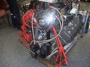 Photo: De derde motor in onderhoud.