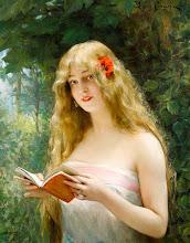 """Photo: Léon François Comerre, """"La bella lettrice"""""""