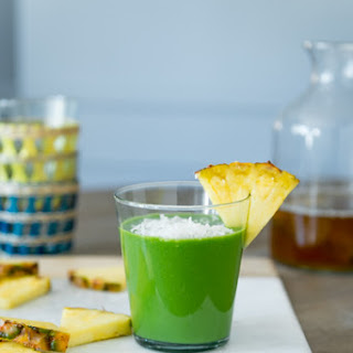 Tropical Green Tea Smoothie.