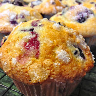 Bakery Style Blueberry Muffins.