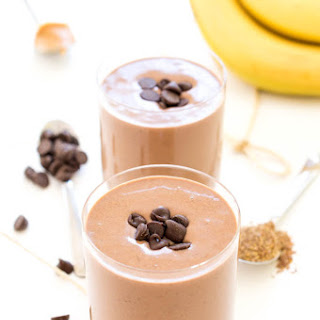 Chocolate Peanut Butter Protein Smoothie.