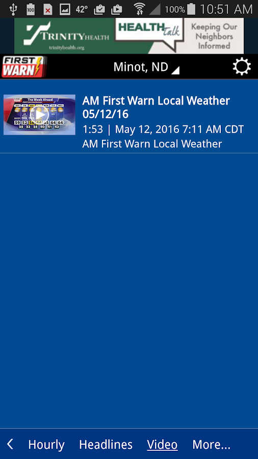 KMOT-TV First Warn Weather- screenshot
