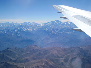 Photo: Day 1 - 11/14/2011 Flying into Santiago, Chile over the Andes