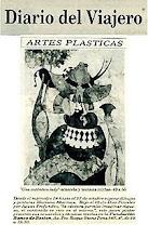 "Photo: ""Artes plásticas,"" DIARIO DEL VIAJERO, Buenos Aires, 11 October 1989, p. 1, featuring Mariano Akerman's ""Your Honour."" http://akermariano.blogspot.com/2012/12/mariano-akerman.html"