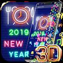 2019 Neon Clock Gravity Theme icon