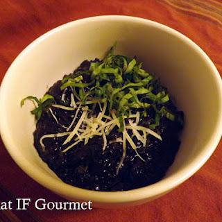 Black Rice Risotto with Mushrooms & Basil.
