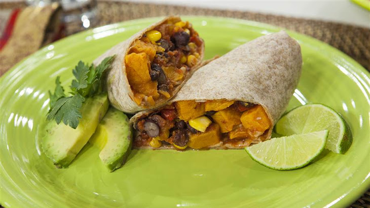 Roasted Sweet Potato and Black Bean Burrito Recipe | Yummly
