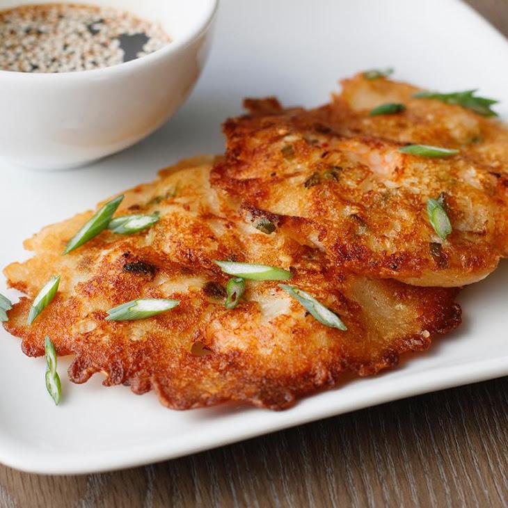 Shrimp & Kimchi Korean Pancake Recipe
