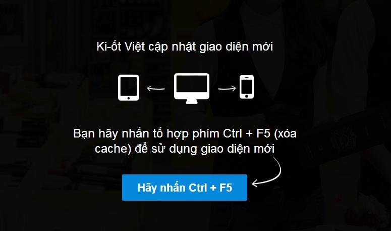 Ki-ốt Việt cập nhật giao diện mới