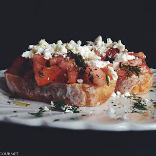 Dakos (DAH-kohs) Greek Bruschetta.