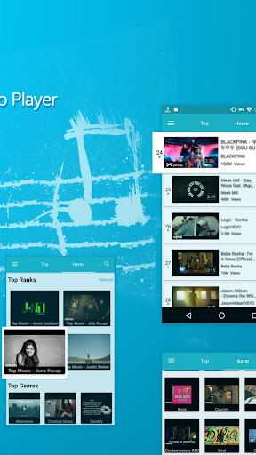 Blue Tunes - Floating Youtube Music Video Player 5.1.1 screenshots 3