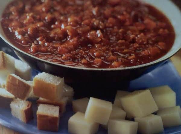 recipe: meatless pizza fondue [23]