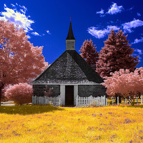 Old Town by Angel Escalante - City,  Street & Park  Vistas ( ir, landscapes, ir photography )