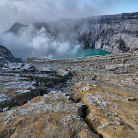 Ijen Mt. Crater by Alfonso Reno - Landscapes Mountains & Hills