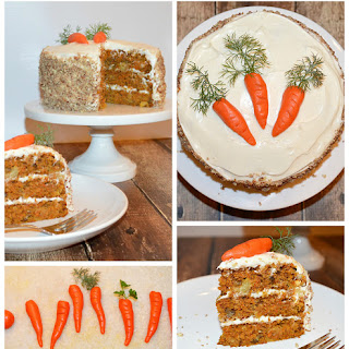 Carrot Cake with Cream Cheese Frosting {Vegan}