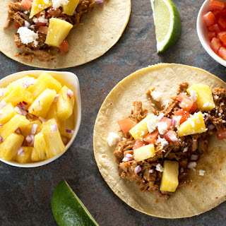 Slow Cooker Tacos Al Pastor.