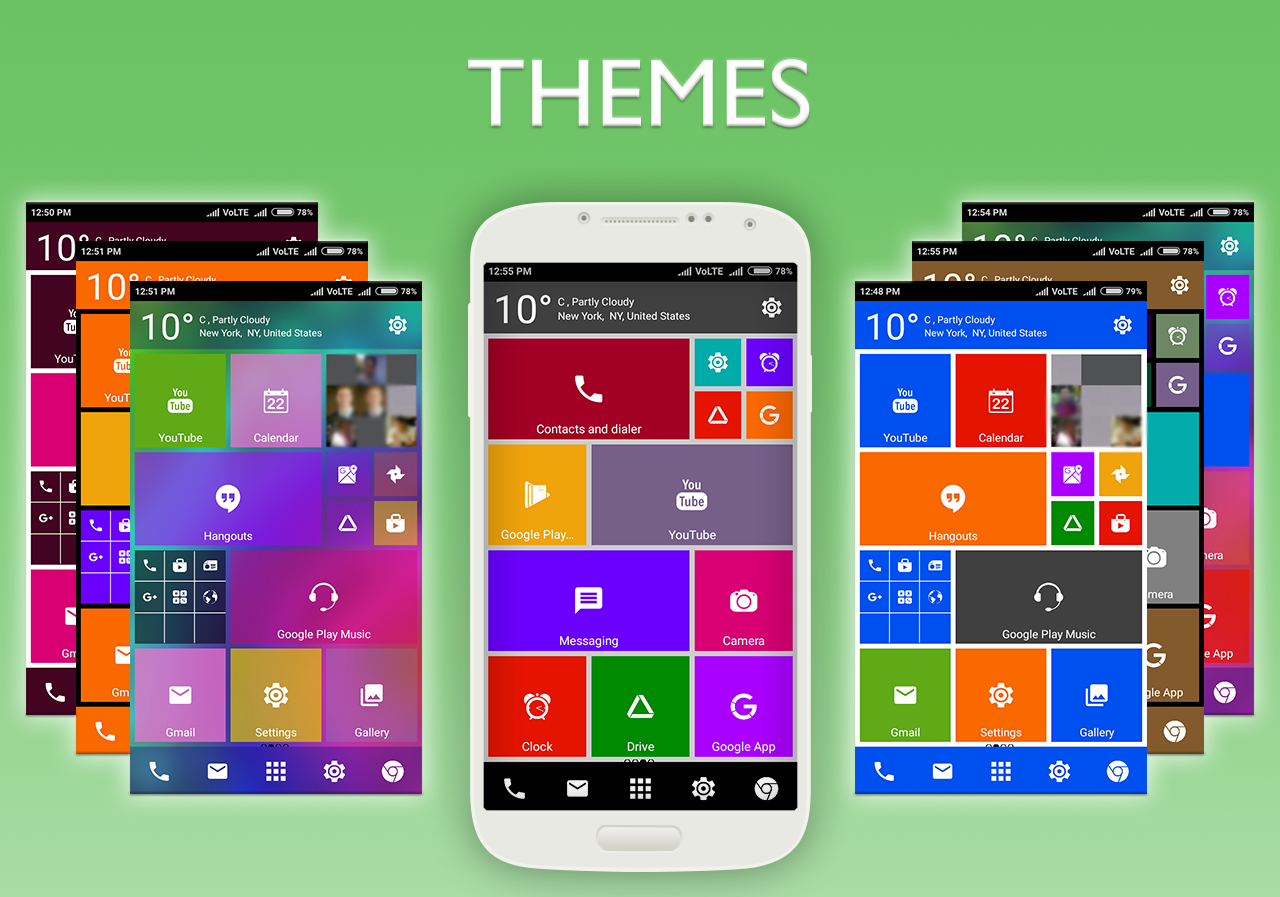 Gmail metro theme - Win 10 Metro Launcher Theme Screenshot