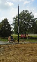 Photo: Backstop Netting Pole 08-05-2014