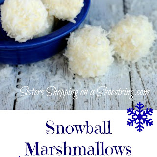 Frozen Birthday Snowball Marshmallow Snacks.