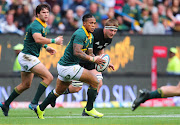 Elton Jantjies during the Castle Lager Rugby Championship Test between the Springboks and the All Blacks in October 2017.