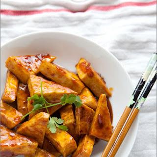 Hot and Sweet Marmalade Glazed Tofu.