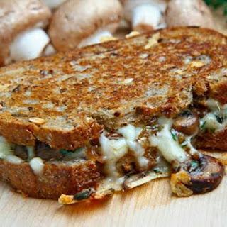 Mushroom Grilled Cheese Sandwich.