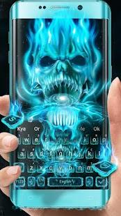 Klávesnice Neon Skull Flame - náhled