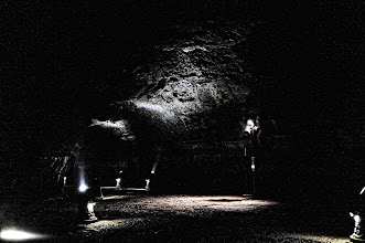 Photo: It is one dark cave. I felt as though I was a dwarf living underground, or exploring a dig site in a video game.