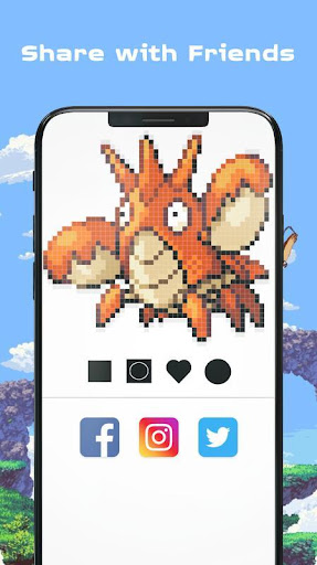 Color by Number - Pokees 3.9 screenshots 12