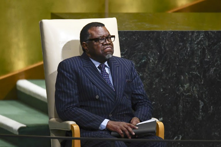 Namibia's President Hage Geingob. File photo.
