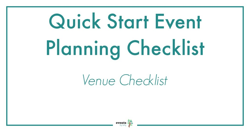 EventsbyLany - Event Venue Checklist