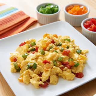 Fluffy Scrambled Eggs-Rainbow Style.