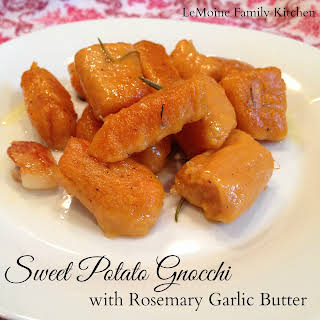 Sweet Potato Gnocchi with Rosemary Garlic Butter.