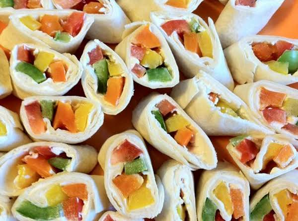 Yummy And Colorful Bell Pepper Rollups