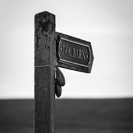 Sign by Gordon Bishop - Black & White Buildings & Architecture ( post, white, signpost, sign, black, the way, point )
