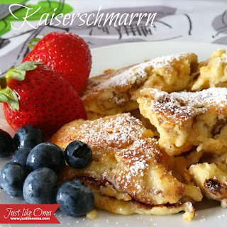 German Torn Pancakes aka Kaiserschmarrn