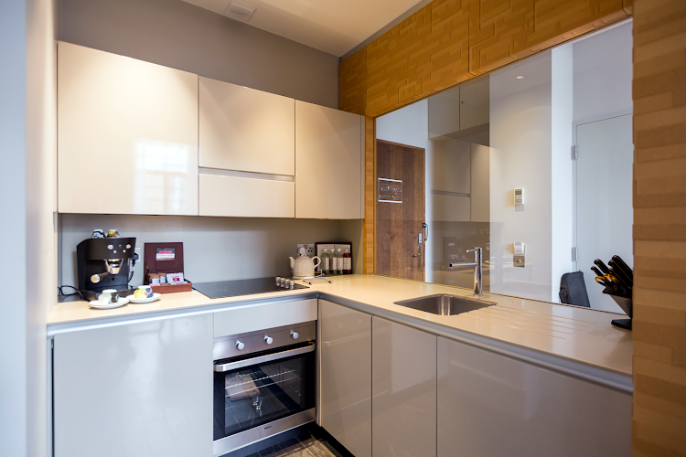 Fully equipped kitchen at Town Hall Hotel & Apartments