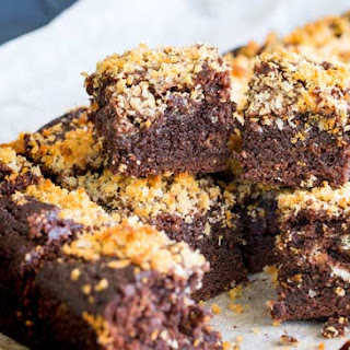 Chocolate Brownies with Salted Panko.