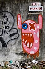 Photo: street art non subventionné.