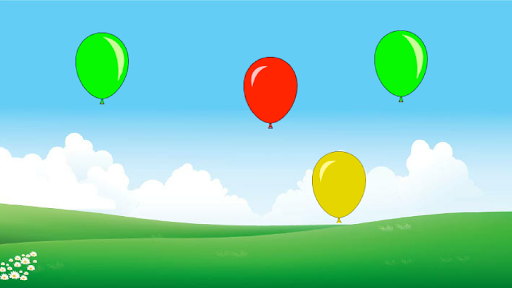 Balloons game for toddlers
