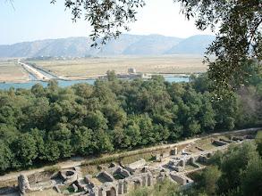 Photo: depuis le haut du site l'on peut voir l'arrivée de la piste