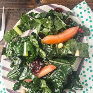 Shredded Kale and Plum Salad