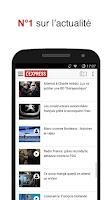 Screenshot of L'Express actu en continu