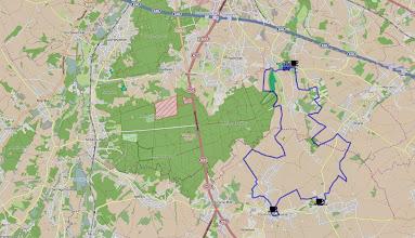 Photo: Het traject in detail; http://www.afstandmeten.nl/index.php?id=1479952