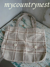 Photo: shopper con tessuto da arredamento natural