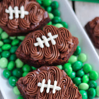 Frosted Football Brownies.